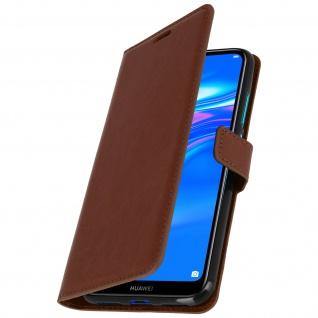 Flip Stand Cover Brieftasche & Standfunktion für Huawei Y7 2019 - Braun - Vorschau 2
