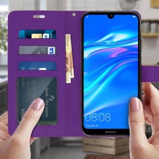 Flip Stand Cover Brieftasche & Standfunktion für Huawei Y7 2019 - Violett - Vorschau 3
