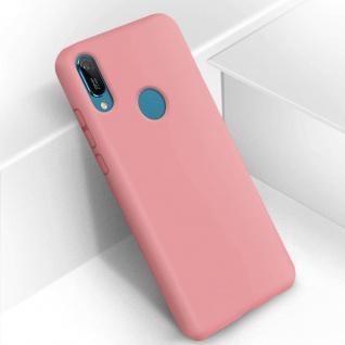 Halbsteife Silikon Handyhülle Huawei Y6 2019, Soft Touch - Rosa