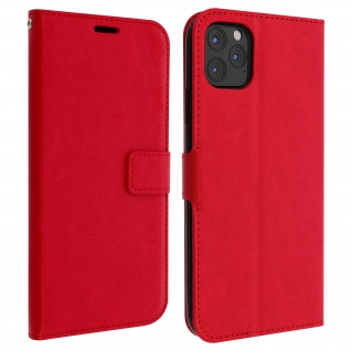 Flip Cover Stand Case Brieftasche & Standfunktion Apple iPhone 11 Pro Max - Rot