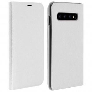 Flip Book Cover, Klappetui aus Kunstleder für Samsung Galaxy S10 Plus - Weiß