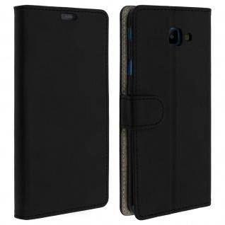 Samsung Galaxy J4 Core Flip-Cover mit Kartenfächern & Standfunktion - Schwarz