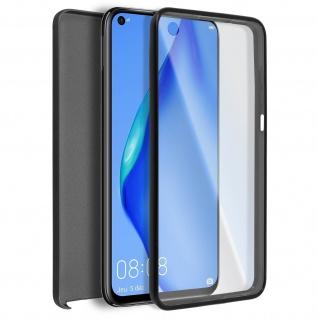 Schutzhülle für Huawei P40 Lite, Vorder- + Rückseite ? Schwarz