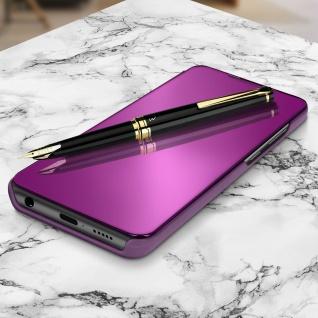 Mirror Klapphülle, Spiegelhülle für Samsung Galaxy A71 - Violett - Vorschau 2