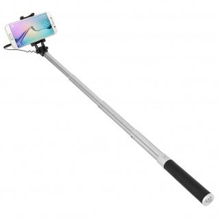 Forever Selfie-Stange ausziehbar, 3.5mm Klinkenstecker Einbeinstativ - Schwarz