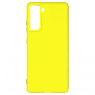 Halbsteife Silikon Handyhülle für Samsung Galaxy S21 Plus, Soft Touch ? Gelb