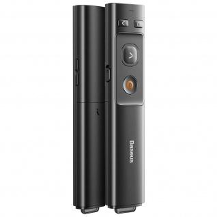 Präsentationsfernbedienung Laserpointer(100m), USB-C Anschluss, Baseus - Schwarz