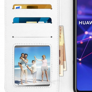 Flip Stand Cover Brieftasche & Standfunktion Huawei Mate 20 lite - Weiß - Vorschau 5