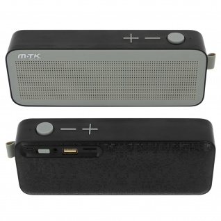 Bluetooth Lautsprecher Mikro-SD USB Stecker 3.5mmJack Mikrophone FMRadio schwarz