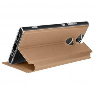 Sony Xperia XA2 Flip Cover Sichtfenster & Kartenfach Gold - Standfunktion - Vorschau 5