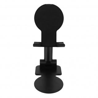 Universal Tischständer Hoch- / Querformat verstellbare Stange 10cm - Schwarz