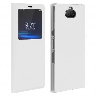 S-View Flip Cover mit Sichtfenster für Sony Xperia 10 â€? Weiß
