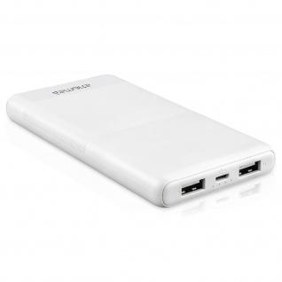 4Smarts Volthub Lite+10000 mAh Universale weiße Powerbank mit 2 USB Anschlüssen