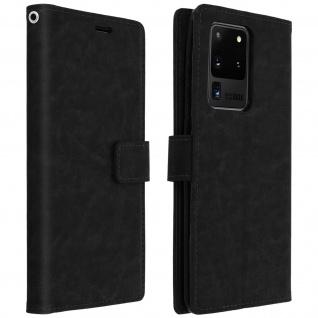 Flip Cover Stand Case Brieftasche & Standfunktion Galaxy S20 Ultra - Schwarz