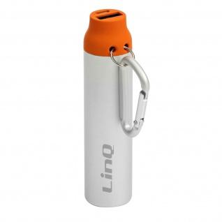 Powerbank / Externer Akkupack USB 1A 3380mAh LinQ - Silber / Orange