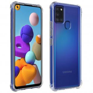 Flexible Samsung Galaxy A21s Silikon Bumper Hülle, stoßfest - Transparent