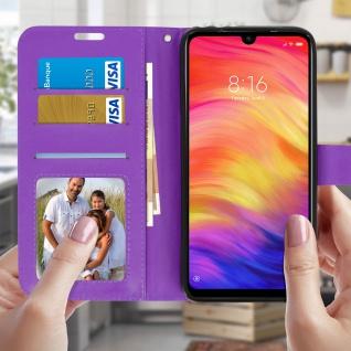Flip Stand Cover Brieftasche & Standfunktion für Xiaomi Redmi 7 - Violett - Vorschau 3