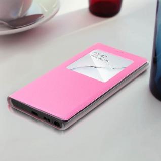 S-View Flip Cover mit Sichtfenster & Kartenfach für Galaxy Note 10 - Rosa - Vorschau 3