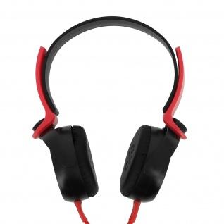 Audio Headset mit 3.5mm Klinkenstecker, EP17 Kopfhörer - Schwarz / Rot