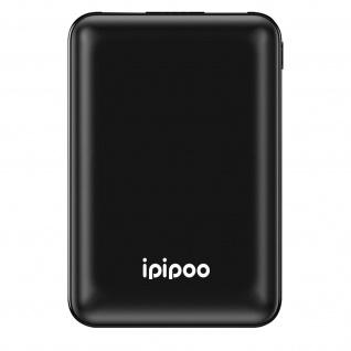 10.000mAh LP-1 Powerbank mit 2x USB-Ports / 1x USB-C Anschluss, Ipipoo - Schwarz