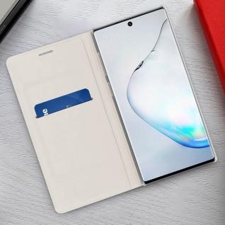 Flip Book Cover, Klappetui aus Kunstleder für Samsung Galaxy Note 10 - Weiß - Vorschau 3