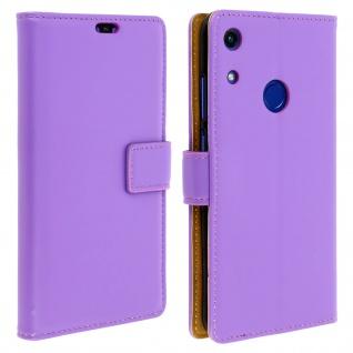Soft Touch Flip-Cover Geldbörse mit Standfunktion für Honor 8A - Violett