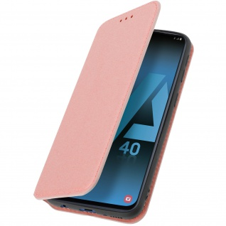 Kunstleder Cover Classic Edition Samsung Galaxy A40 - Rosegold