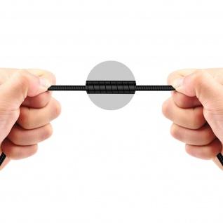 Micro-USB / USB-Ladekabel Aluminium, Aufladen & Synchronisation 1m - Schwarz - Vorschau 5