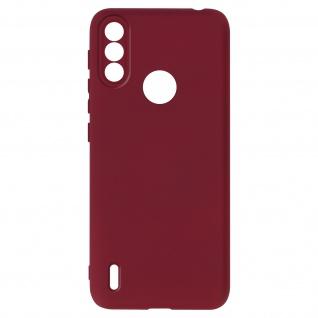 Halbsteife Silikon Handyhülle für Samsung A52 / A52 5G, Soft Touch ? Weinrot
