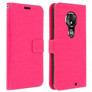 Flip Stand Cover Brieftasche & Standfunktion für Moto G7, Moto G7 Plus - Rosa