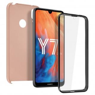 Schutzhülle für Huawei Y7 2019, Vorder- + Rückseite ? Rosegold