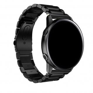 Galaxy Watch Active2 40mm Edelstahl Armband mit Doppelfaltschließe ? Schwarz