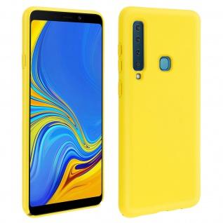 Samsung Galaxy A9 2018 Soft Touch kratzfeste Silikonhülle, soft case - Gelb