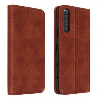 Flip Stand Case Brieftasche & Standfunktion für Sony Xperia 5 II ? Braun