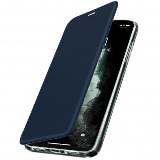 Spiegel Hülle, dünne Klapphülle für Apple iPhone 11 Pro Max - Dunkelblau