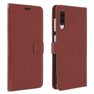 Flip Stand Cover Brieftasche & Standfunktion für Samsung Galaxy A50 - Braun