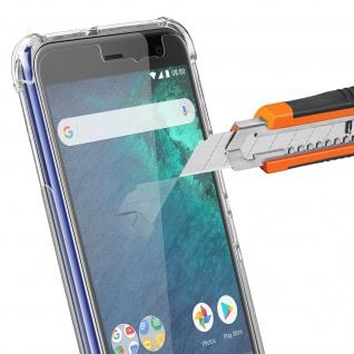 HTC U11 Life Schutzhülle + Hydrogel Schutzfolie, 360° Schutz iMak - Transparent