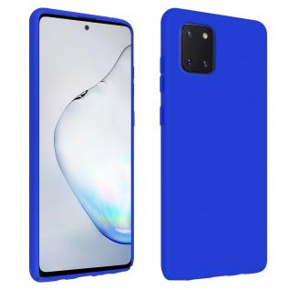 Halbsteife Silikon Handyhülle Samsung Galaxy Note 10 Lite, Soft Touch - Blau