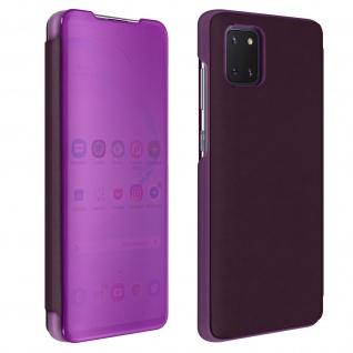 Samsung Galaxy Note 10 Lite Cover mit Spiegeleffekt & Standfunktion � Violett