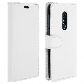 Flip Cover Stand Case Brieftasche & Standfunktion für Alcatel 3 - Weiß