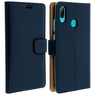 Soft Touch Flip-Cover Geldbörse Huawei P Smart 2019, Honor 10 Lite â€? Dunkelblau