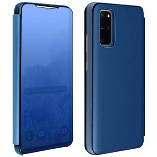 Mirror Klapphülle, Spiegelhülle für Samsung Galaxy S20 Plus - Blau