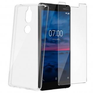 360° Protection Pack Nokia 7: Backcover + Displayschutzfolie aus gehärtetem Glas