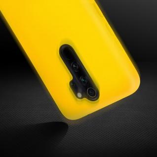 Halbsteife Silikon Handyhülle Xiaomi Redmi Note 8 Pro, Soft Touch - Gelb - Vorschau 4
