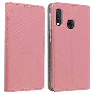 Wallet Cover, Klapphülle für Galaxy A20e, Kartenfach und Ständer ? Rosegold