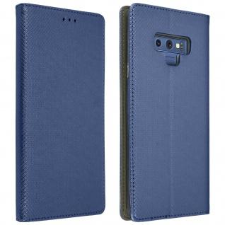 Samsung Galaxy Note 9 Flip Cover mit Kartenschlitz & Standfunktion - Blau