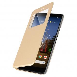 S-View Flip Cover mit Sichtfenster für Google Pixel 3A - Gold - Vorschau 2