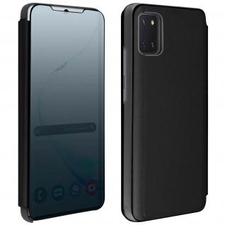 Mirror Klapphülle, Spiegelhülle für Samsung Galaxy Note 10 Lite - Schwarz