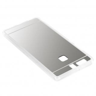 Unverbrüchliche Schutzhülle mit Spiegeleffekt für Huawei P9 - Silber