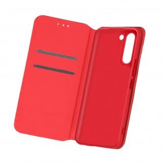 Kunstleder Cover Classic Edition für Samsung Galaxy S21 ? Rot